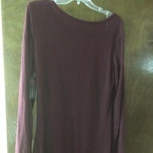 Maroon winter sweater dress